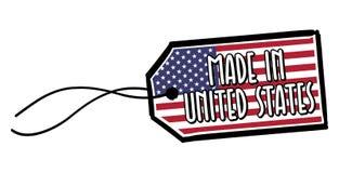 Feito na etiqueta dos EUA do Estados Unidos Imagens de Stock Royalty Free