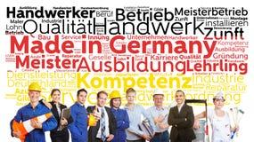 Feito na nuvem da etiqueta de Alemanha fotos de stock