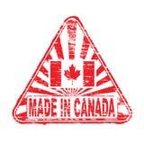 Feito no carimbo de borracha de Canadá Fotos de Stock Royalty Free