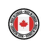Feito no carimbo de borracha redondo de Canadá para produtos ilustração stock