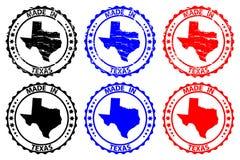 Feito no carimbo de borracha de Texas ilustração do vetor