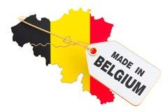 Feito no conceito de Bélgica, rendição 3D ilustração do vetor