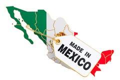 Feito no conceito de México, rendição 3D ilustração do vetor