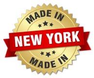 feito no crachá de New York ilustração do vetor