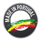 Feito no logotipo do crachá da etiqueta de Portugal certificado Foto de Stock Royalty Free
