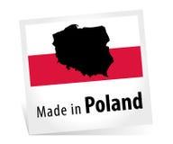 Feito no Polônia com bandeira Imagem de Stock Royalty Free