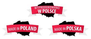 Feito no Polônia - Wyprodukowano w Polsce Fotografia de Stock