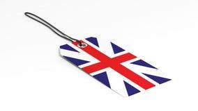 Feito no preço BRITÂNICO com bandeira nacional Fotografia de Stock Royalty Free
