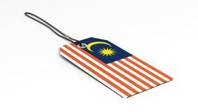 Feito no preço de Malásia com bandeira nacional Fotos de Stock