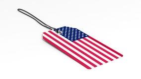 Feito no preço dos EUA com bandeira nacional Fotos de Stock Royalty Free