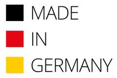 Feito no símbolo vermelho do amarelo 3d-illustration do preto liso de Alemanha ilustração royalty free
