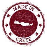 Feito no selo da Creta ilustração do vetor