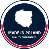 Feito no selo da qualidade do Polônia Ilustração do vetor ilustração stock