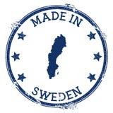 Feito no selo da Suécia ilustração do vetor