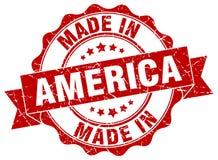 Feito no selo de América ilustração stock