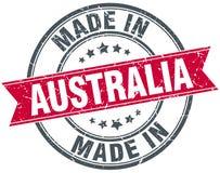 Feito no selo de Austrália ilustração stock
