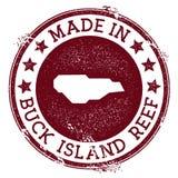 Feito no selo de Buck Island Reef ilustração royalty free