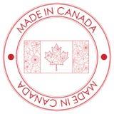Feito no selo de Canadá ilustração stock
