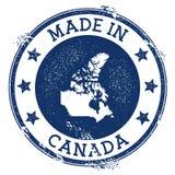 Feito no selo de Canadá ilustração royalty free