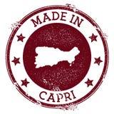 Feito no selo de Capri ilustração stock