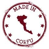 Feito no selo de Corfu ilustração royalty free