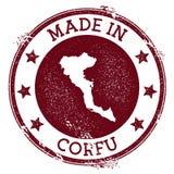 Feito no selo de Corfu ilustração do vetor