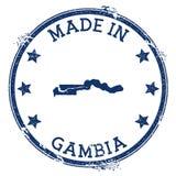 Feito no selo de Gâmbia ilustração royalty free