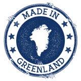 feito no selo de Gronelândia ilustração royalty free