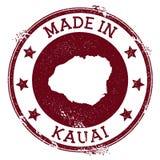 Feito no selo de Kauai ilustração stock
