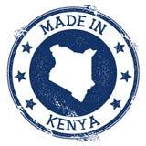 feito no selo de Kenya ilustração royalty free