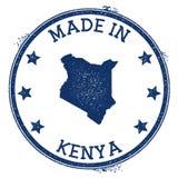feito no selo de Kenya ilustração stock