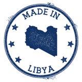 feito no selo de Líbia ilustração stock