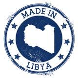feito no selo de Líbia ilustração do vetor