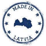 feito no selo de Letónia ilustração royalty free