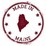 Feito no selo de Maine ilustração do vetor