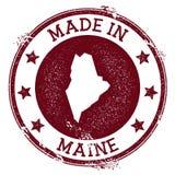 Feito no selo de Maine ilustração stock