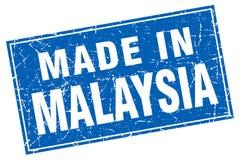 feito no selo de Malásia ilustração do vetor
