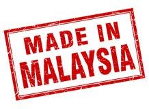 feito no selo de Malásia ilustração stock