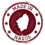 Feito no selo de Naxos ilustração stock