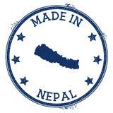 feito no selo de Nepal ilustração do vetor