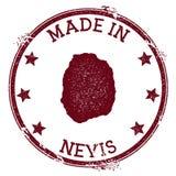 Feito no selo de Nevis ilustração do vetor