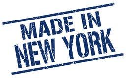 Feito no selo de New York ilustração stock