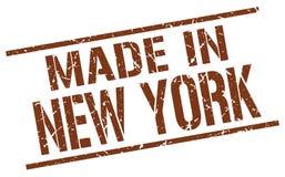 Feito no selo de New York ilustração do vetor