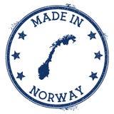 feito no selo de Noruega ilustração royalty free