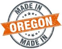 Feito no selo de Oregon ilustração do vetor
