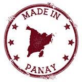 Feito no selo de Panay ilustração stock
