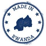 feito no selo de Ruanda ilustração royalty free
