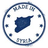 feito no selo de Síria ilustração do vetor