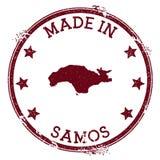 Feito no selo de Samos ilustração do vetor