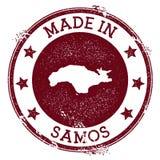 Feito no selo de Samos ilustração stock